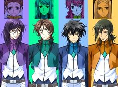 Tieria x Mileina Lyle x Anew Setsuna x Feldt Allelujah x Marie Gundam Exia, Gundam 00, Gundam Wing, Mythological Monsters, Gundam Iron Blooded Orphans, Gundam Wallpapers, Gundam Seed, Light Novel, Mobile Suit