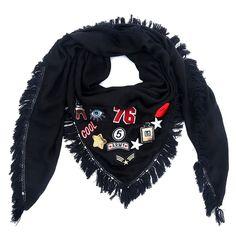 Sjaal patches zwart