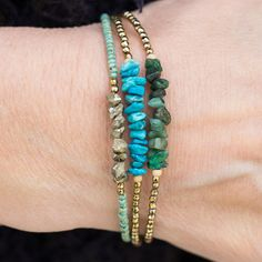 Items similar to Turquoise Bracelet Beaded Bracelet gemstone Bracelet Gold Bracelet Hematite Bracelet Stacking Bracelet December Birthstone Jewelry on Etsy Diy Jewelry, Jewelry Gifts, Beaded Jewelry, Handmade Jewelry, Jewelry Design, Jewelry Making, Handmade Beads, Jewelry Accessories, Fashion Jewelry