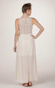 Cropped Crochet Maxi Dress