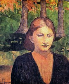 "By Emile Bernard. It's entitled, ""Portrait de ma soeur Madeleine."""