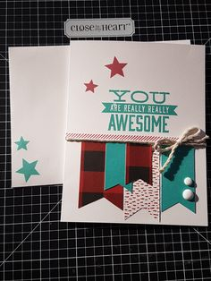 #ctmhJack #ctmh #fathersday Father's Day Cardmaking Kit. Black, Lagoon and Ruby Exclusive Inks, Black & White Dots, Whisper Thick Twine.