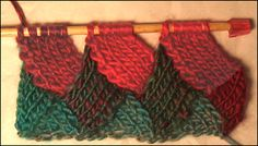 Entrelac Scarf Knitting Pattern | Entrelac Knitting Patterns Written Directions