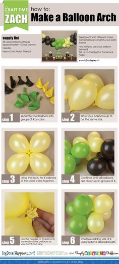 How Yo Make A Balloon Arch party diy craft crafts craft ideas instructions easy crafts diy ideas diy crafts party decor easy diy how to home crafts party ideas diy party ideas kids party ideas craft party ideas by MarieKCK