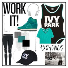 """""""Work It: Ivy Park"""" by my-fitness-style ❤ liked on Polyvore featuring Ivy Park, Topshop, NIKE, Master & Dynamic and IvyPark"""