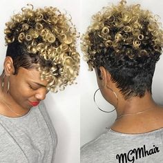 Luna 005 Best Design Short Curly Tapered Hair Wig for Women - July 14 2019 at Short Curly Hair Black, Short Hair Cuts, Wavy Hair, Long Hair, Kinky Hair, Short Pixie, Pixie Cut, Curly Hair Styles, Natural Hair Styles