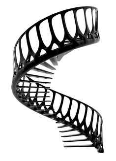 The Vertebrae Staircase …by artist and architect Andrew McConnell.this futuristic piece is meant to function as a self-supporting staircase (!) inspired by the spine of a whale…! Escalier Design, Take The Stairs, Staircase Design, Stair Design, Gate Design, Stairway To Heaven, Dezeen, Deco Design, Architecture Details
