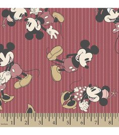 Disney® Mickey and Minnie Mouse Print Fabric-Stripes | Personalized Fabric | Online Only Product