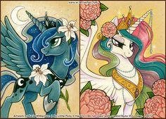 I love this Luna and Celestia art