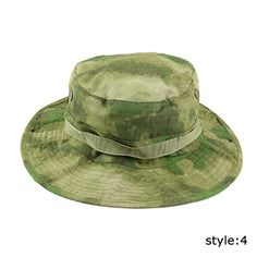 8cf31483dab XHSPORT Outdoor Camouflage Bucket Hats Wide Brim Sun Hat Hiking Fishing  Hunting Camping Bonnie Hat Cap (Style 4). Made of laceration resistant  cloth