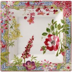 'Millefleurs' – porte cartes, card tray - decorated by Isabelle de Borchgrave | Belgian artist and sculptor, best known for her intricately painted paper sculptures.