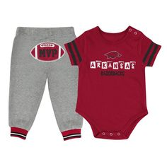 Infant MVP Arkansas Razorback Onesie and Pant Set