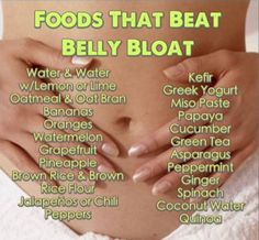 Food for belly bloat