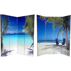 Oriental Furniture Tropcial Island Outdoor Photography, 6-Feet Ocean Beach Photo Print Room Divider, 4 Panel ORIENTAL FURNITURE http://www.amazon.com/dp/B0036SP6XO/ref=cm_sw_r_pi_dp_ooK3ub18MK447
