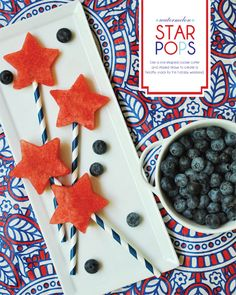 Watermelon Star Pops by thepartydress #Watermelon #thepartydress