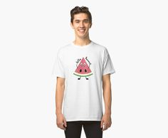 Melon background. Pattern with falling watermelon slice. Healthy vegetarian food • Also buy this artwork on apparel, stickers, phone cases, and more.