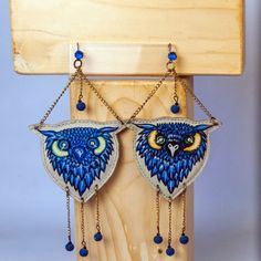 #owl#earings#gufo##unique #bespoke #handpainted #fashion #lifestyle #accessory #designer #fashionista #dreamer #accessories #accessorize #art #artist #design #decor #flukedesign #handpaint #handcraft #handcrafted