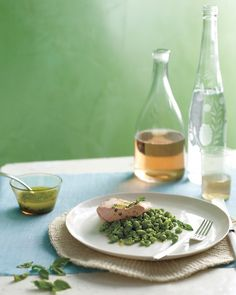 Crushed Peas with Poached Salmon - Martha Stewart Recipes