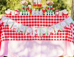 "Strawberries / Birthday ""Berry Sweet Picnic Play Date"" 