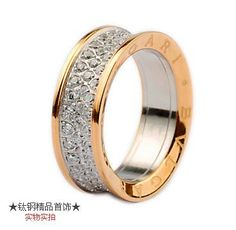 bvlgari anish kapoor ring in 18kt pink gold with pave diamonds