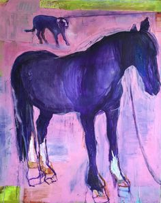 Patricia Canelake:  Luke Skywalker with Majestic Horse oil painting 4 feet xy 6 feet. 2014-2015