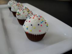 Cupcake Bites-uses same cake pop idea, just without the pain of using stick! Super cute!