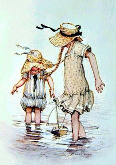 Painting For Kids, Children Painting, Mary May, Sarah Kay, Holly Hobbie, Disney Pictures, Cool Items, Vintage Cards, Happy Day