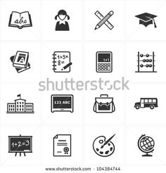 back to school vector icons - Google Search