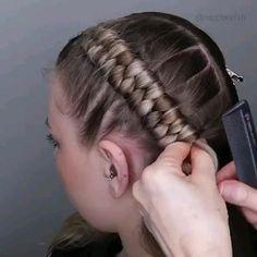Hairdo For Long Hair, Long Hair Video, Easy Hairstyles For Long Hair, Braids For Short Hair, Braided Hairstyles, Hairstyle Short, School Hairstyles, Prom Hairstyles, Hair Cutting Videos