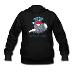 One too many cookies, ey?  Get your Life is Crap holiday designs on warm hoodies for $39.99!