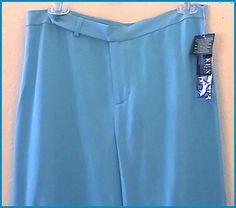 RALPH LAUREN SLACKS   SEA Blue   PANTS    Size 8P  POLO     NWT #RalphLauren #DressPants