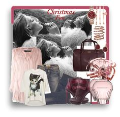 """""""Christmas Fun..."""" by kimberlyd-2 ❤ liked on Polyvore featuring Unreal Fur, Elizabeth and James, BCBGMAXAZRIA, Vivienne Westwood, Kate Spade, Anne Klein, Plukka, Karen Kane, Michael Kors and rosegold"""