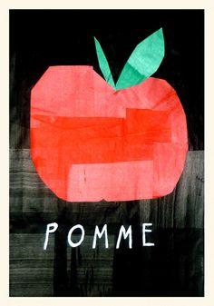 Rob Hodgson, Apple, papercut in german? Collage Illustration, Graphic Design Illustration, Collage Art, Food Illustrations, Food Graphic Design, Pomes, Fruit Art, Art Club, Art Plastique