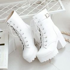Kawaii Shoes, Chunky Shoes, Chunky Sneakers, Aesthetic Shoes, Hype Shoes, Dream Shoes, Mid Calf Boots, Fashion Boots, Latex Fashion