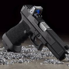Glock by Zev Technologies Glock Guns, Weapons Guns, Guns And Ammo, Custom Glock, Custom Guns, Rifles, Fire Powers, Home Defense, Cool Guns