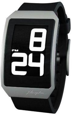 Phosphor Unisex DH01 Digital Hour E-INK Curved Polyurethane Band Watch: Phosphor: Watches