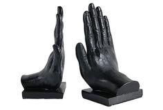 Pair of Hand Bookends on OneKingsLane.com