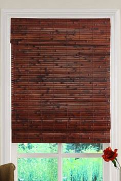 @Sarah Chintomby Dunning @Christina & Dunning - these are the window treatments I want! Bamboo Blinds - Inside Mount with valance