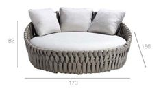 Tosca daybed is a woven patio daybed with extra large weaving from Monica Armani