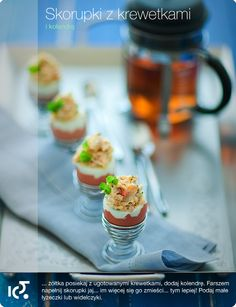Jaja z krewetkami i kolendrą