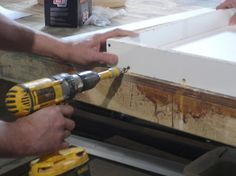 To create a simple concrete countertop, DIYNetwork.com experts show how to build the forms, prepare the concrete mix, pour the concrete and get it in shape to cure.