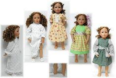 Dress Nightgown & Slippers Pattern for Sonja by KdysCreations, $9.99