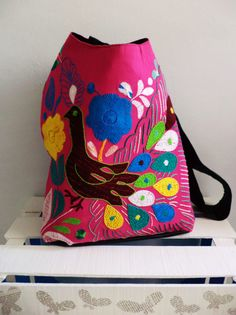 #Bolso de #Oaxaca, #artesanal #hechoamano #hechoenMéxico. #Handbag #handmade #embroidery #sacàmain