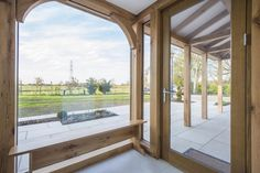 Oak Orangery, oak building and porch. Call for details 01423 593794 House Extension Design, Extension Designs, Oak Framed Extensions, House Extensions, Roof Design, House Design, Covered Walkway, Roof Lantern, Glass Balustrade