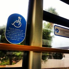 Strapped in and buckled up for my first solo trip on the #MyCiti #bus! #disabled #enabled (circa 24 March 2014)