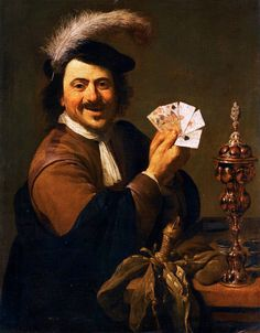 Theodoor Rombouts (1597-1637) - A CARD PLAYER