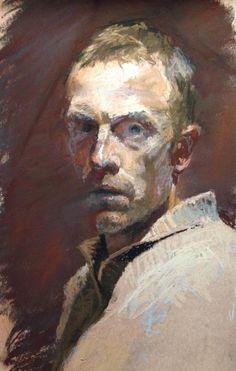 Benjamin Hope, Self-Portrait at 37 in Pastel.