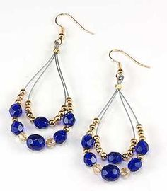 Jewelry Making Idea: Royal Bohemian Earrings (eebeads.com)