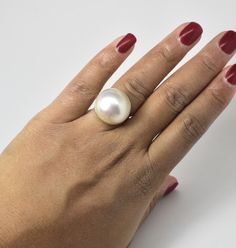 Mabe Pearl Ring 14k Luxyvint.com