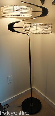 Vtg Majestic Z Floor Lamp Fiberglass Shades Mid Century Modern Retro Atomic 50s | eBay